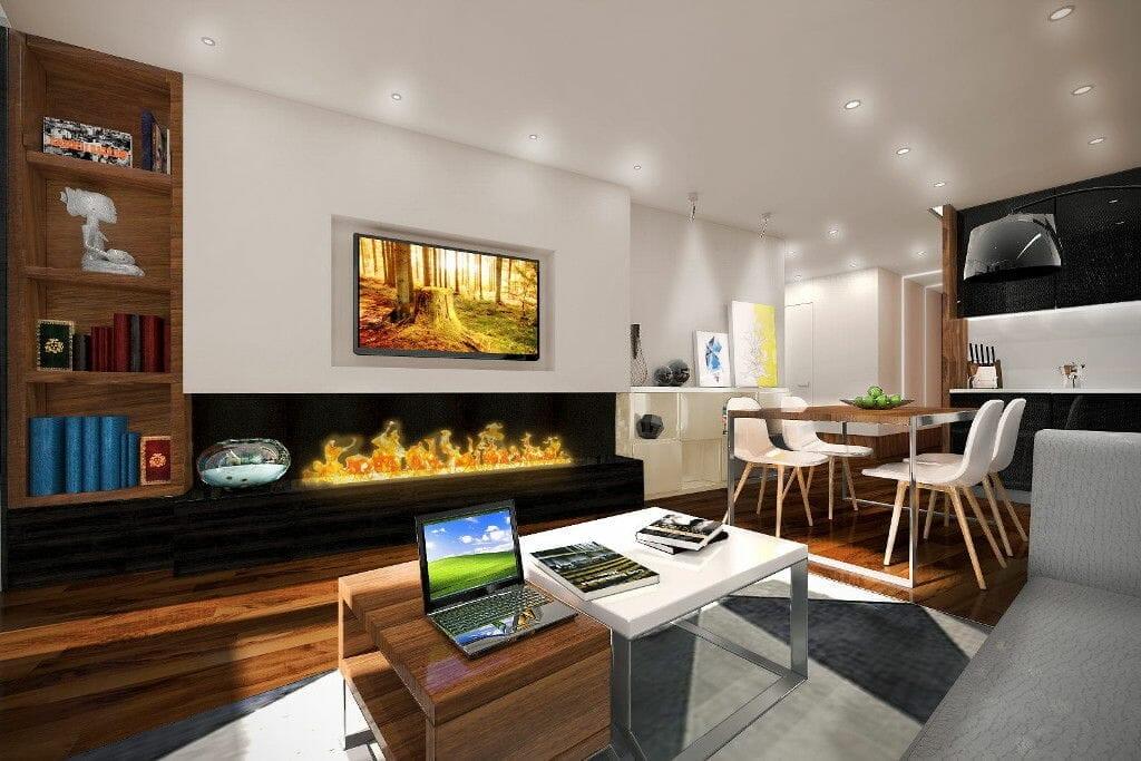 Apartamenty zamkowe wizualizacja nowoczesne wnętrze Viva Design