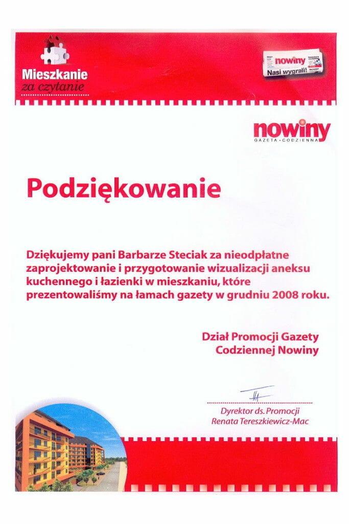 Viva Design - 2009 podziękowanie od Nowin