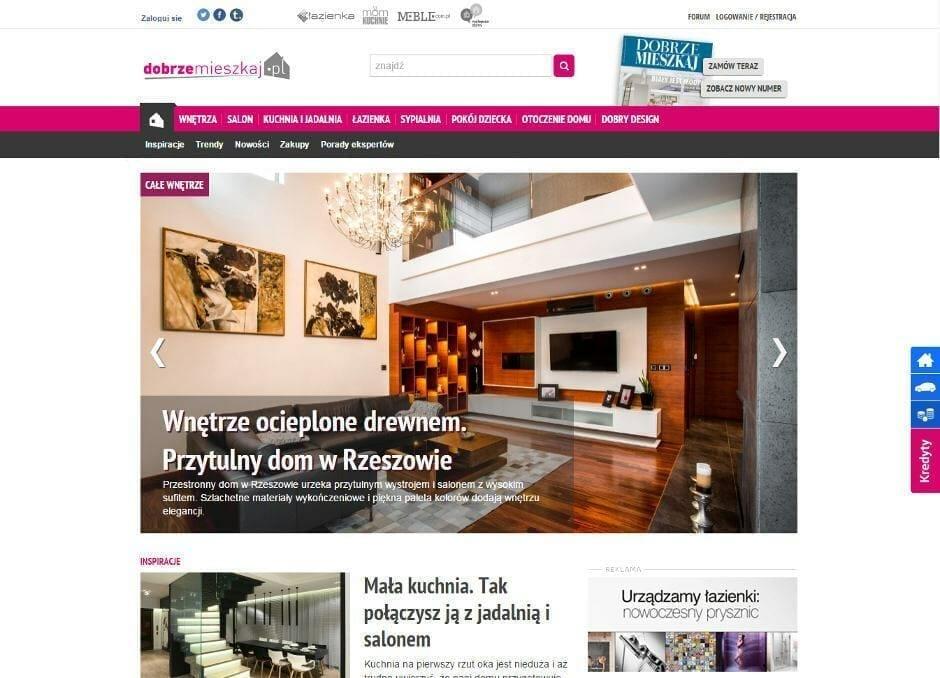 Viva Design publikacja na portalu DobrzeMieszkaj