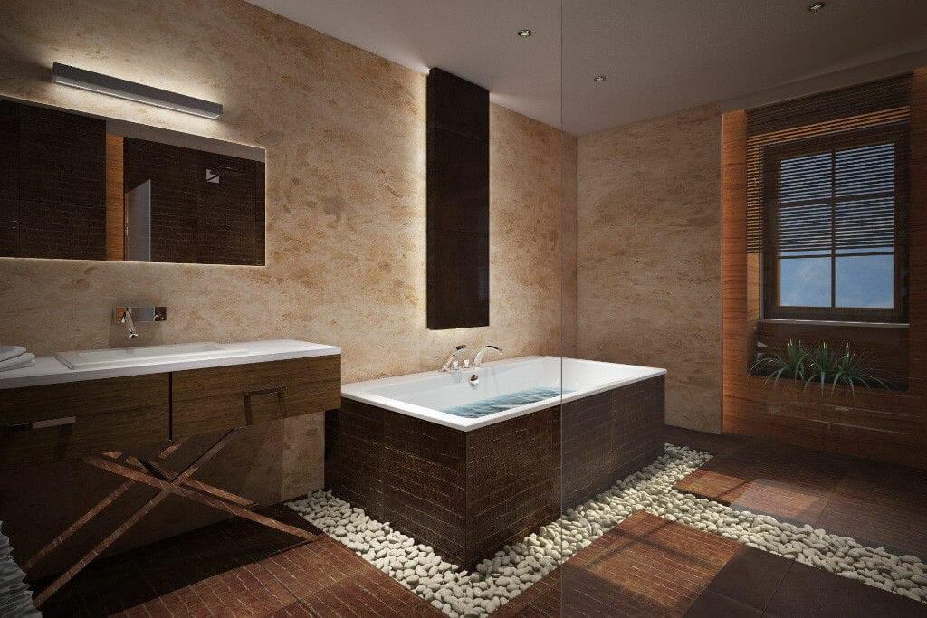 Łazienka SPA w rezydencji marmur granit - Viva Design