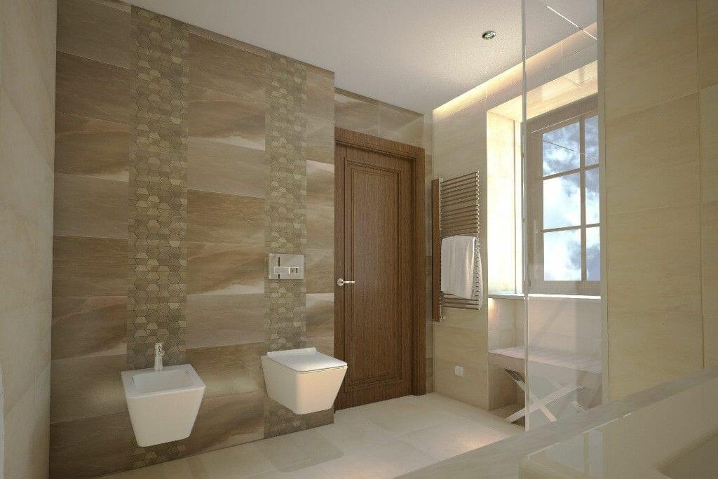 Łazienka rezydencja golden cream granit kamień naturalny - Viva Design