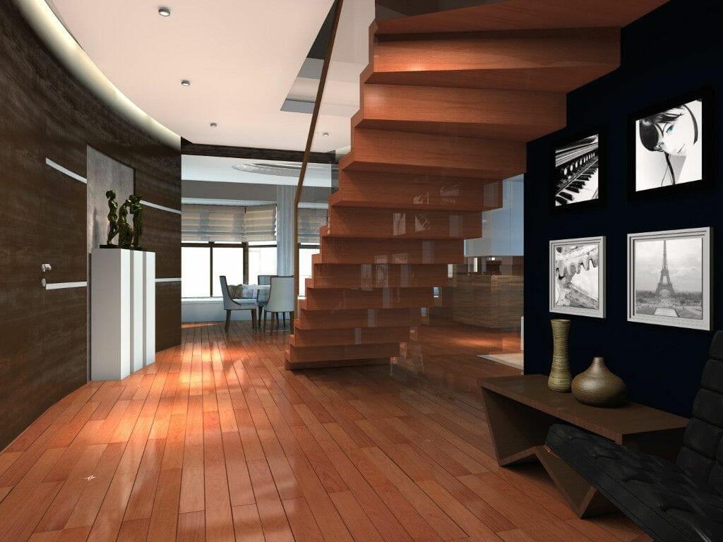 Wizualizacja przedpokój korytarz hol - Viva Design