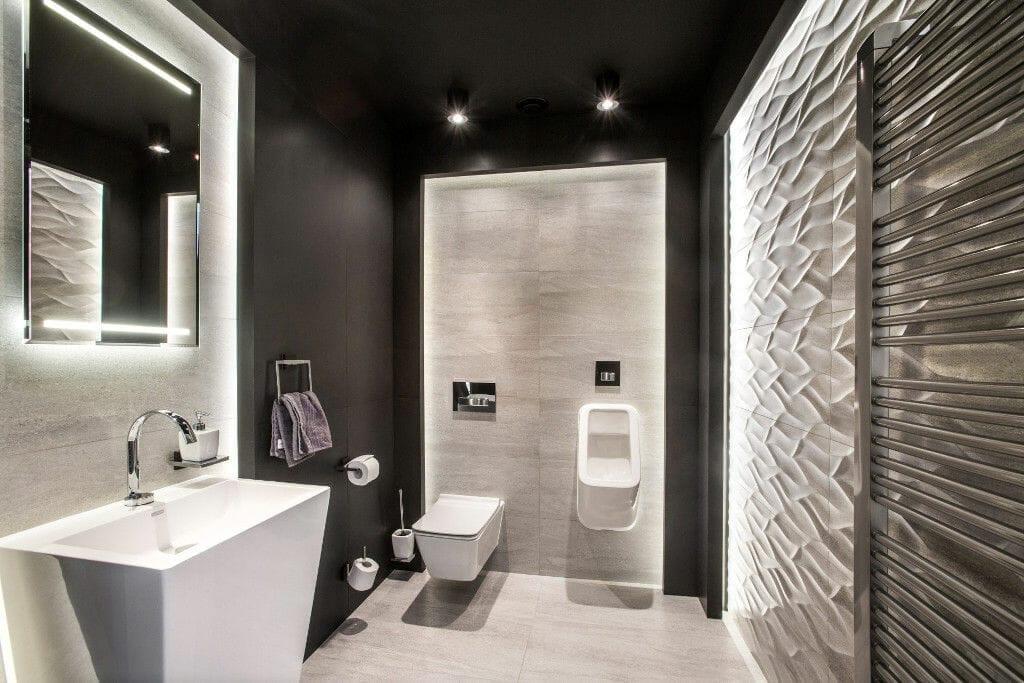 Projektowanie wnętrz - toaleta z efektem WOW - Viva Design