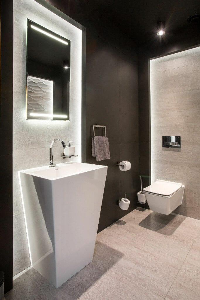 Pięknie urządzona luksusowa toaleta - Viva Design