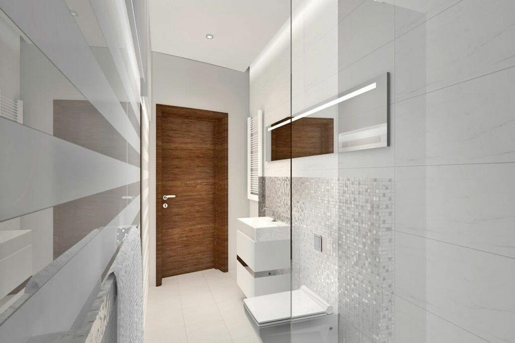 Wizualizacja łazienka jasna z drewnem Viva Design