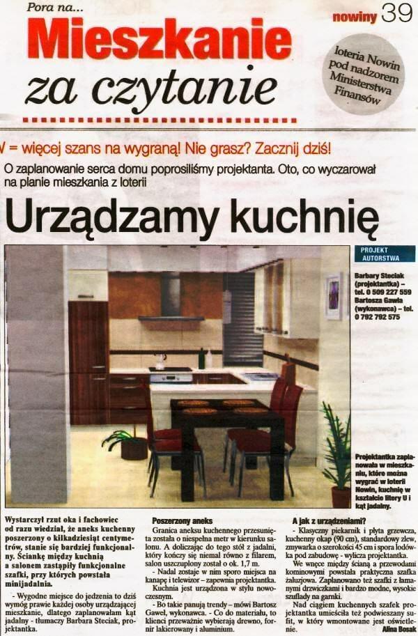 Nowiny Rzeszów - projekt kuchni Viva Design