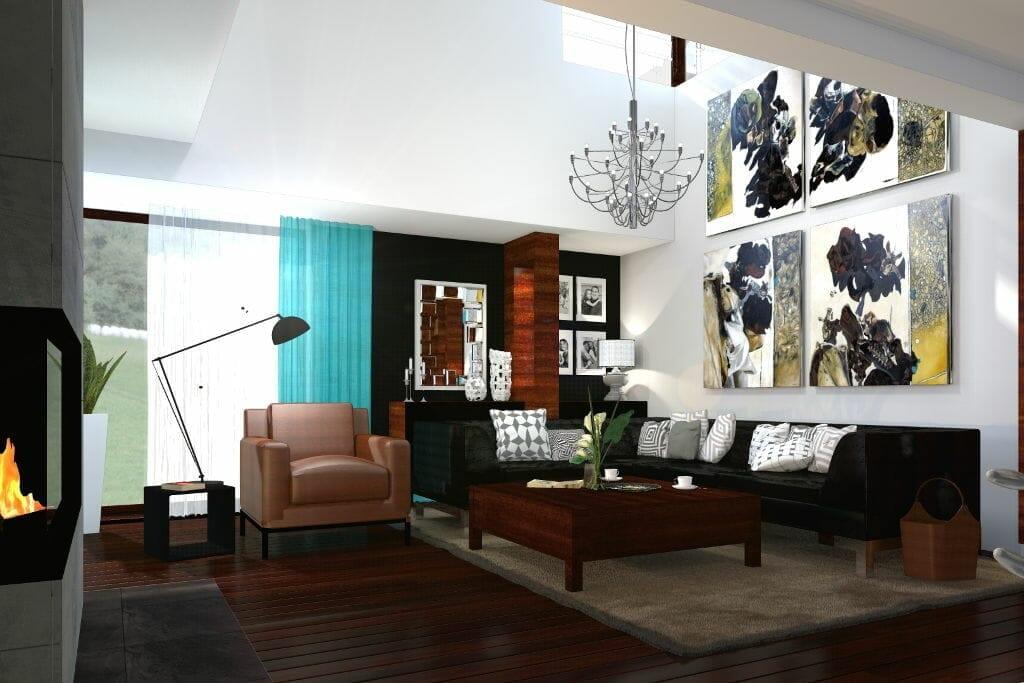 salon luksusowy z antresolą, wizualizacja, rzeszów, viva design, projektowanie wnętrz, projektant wnetrz, architekt wnetrz, Rzeszow, projekty wnetrz, Rzeszów