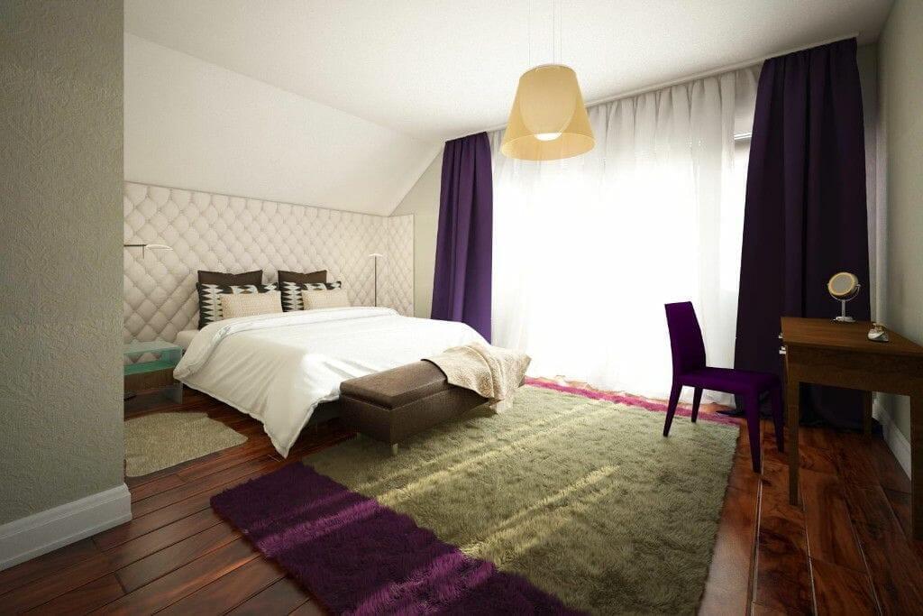 Tapeta, sypialnia, denya, podłoga drewniana, pikowana ściana, pikowany zagłówek, rzeszów, viva design, wnętrze