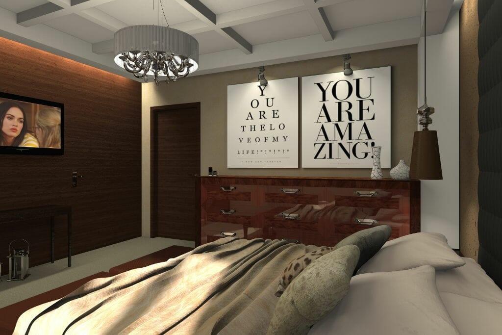 sypialnia, wizualizacja, viva design, rzeszów