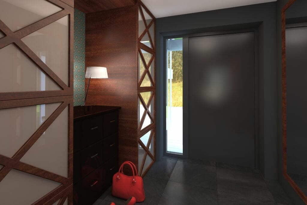 korytarz, przedpokój, hol, hall, rzeszów, viva design, wizualizacja