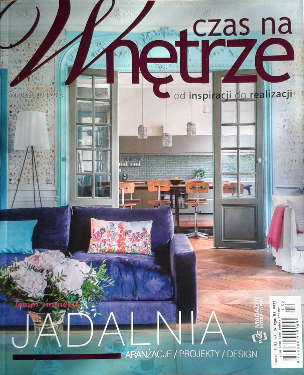 Czas na wnętrze, Viva Design, Rzeszów, projektant wnętrz, projektowanie wnętrz, architekt wnętrz, dom nad Wisłokiem, artykuł