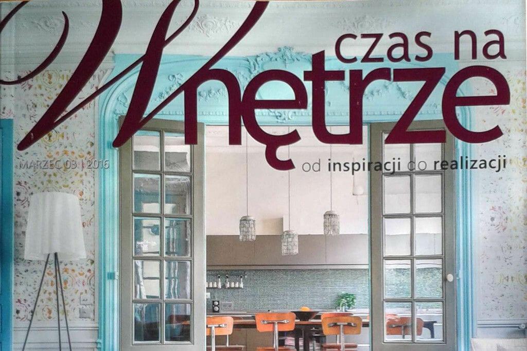 Publikacja w gazecie czas na wnętrze w której opisana została realizacja pracowni projektowania wnętrz Viva Design z Rzeszowa, viva design, pod klucz, Krakow, projekty wnetrz, Rzeszow, Warszawa