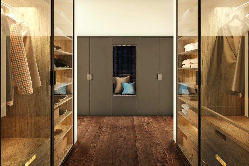 garderoba, męska, Rzeszów, Tyczyn, wizualizacja, wizualizacje, VIva Design, projektant wnętrz, architekt wnętrz