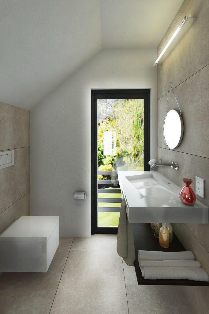 Łazienka, beton, dom, viva design, tyczyn, rzeszów, projektowanie wnetrz, architekt wnętrz, architektura wnętrz