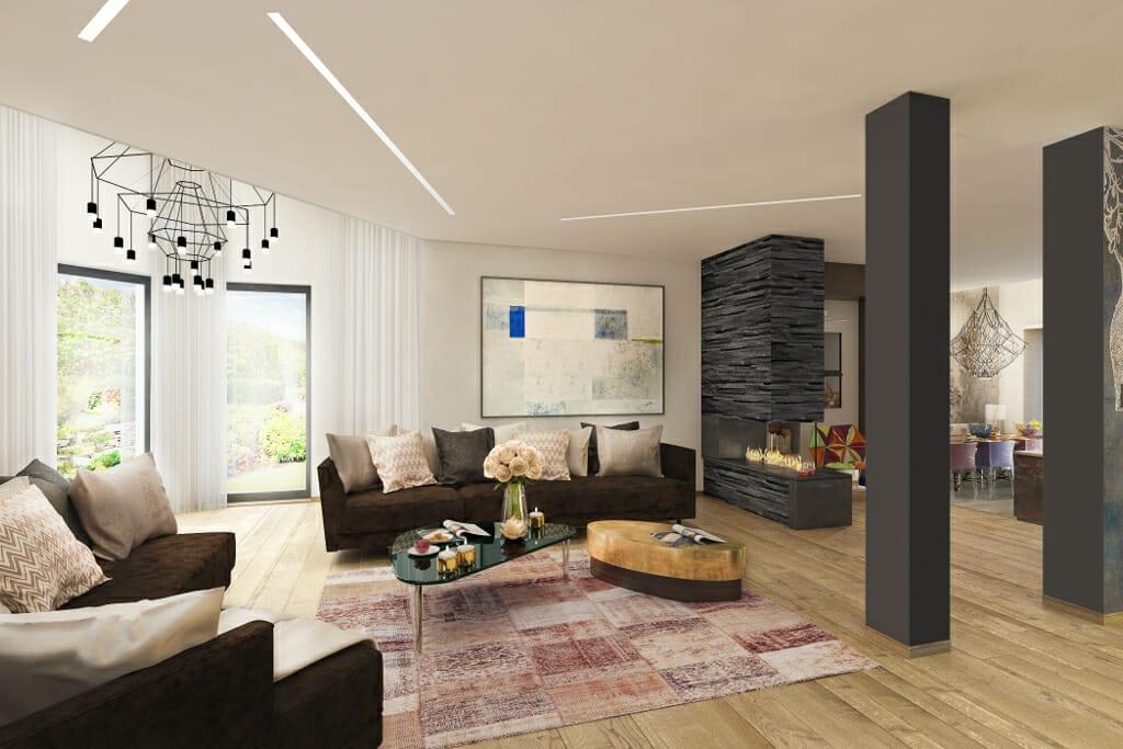 salon, pokój dzienny, wizualizacje, wizualizacja, Tyczyn, Rzeszów, Viva Design, projektowanie wnętrz, projektant wnętrz,