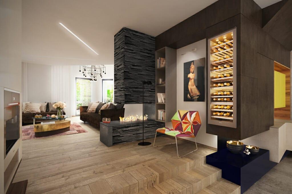 biokominek, kominek, chłodziarka na wino, wizualizacje, wizualizacja, Tyczyn, Rzeszów, Viva Design, projektowanie wnętrz, projektant wnętrz,