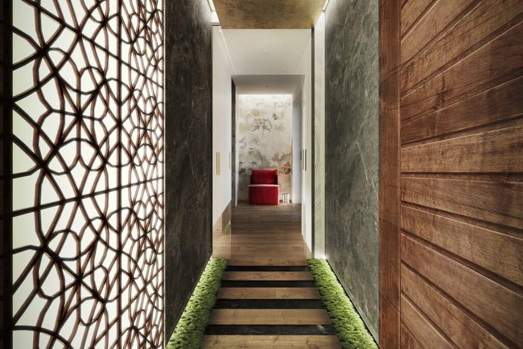 holl, korytarz, przedpokój, wizualizacje, wizualizacja, Tyczyn, Rzeszów, Viva Design, projektowanie wnętrz, projektant wnętrz,