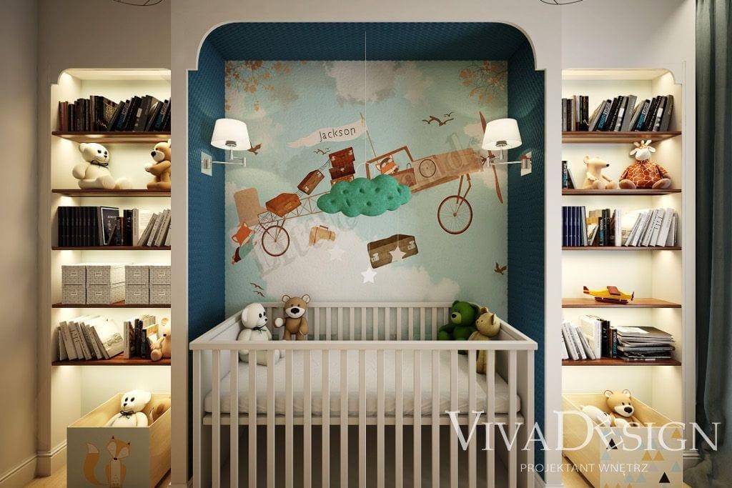 Pokój dla dziecka z białą kołyską