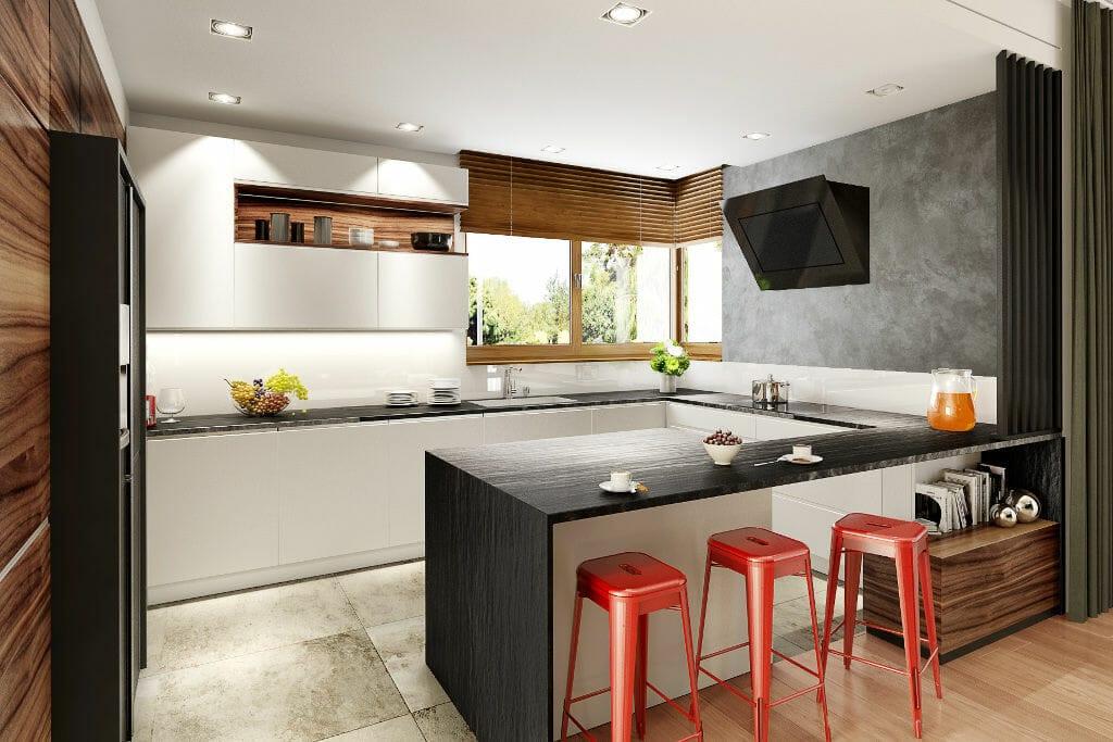 Wizualizacja kuchni, viva design, projektowanie wnętrz, Rzeszów, warszawa, kraków,