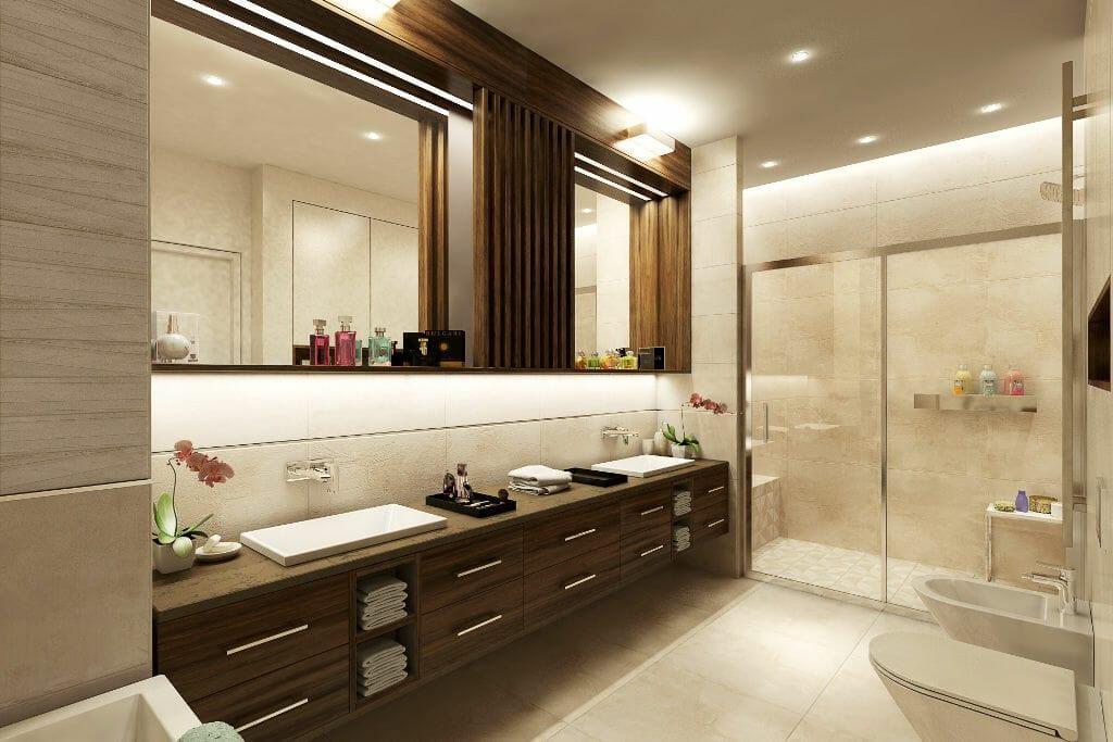 Wizualizacja łazienki, viva design, projektowanie wnętrz, Rzeszów, warszawa, kraków,