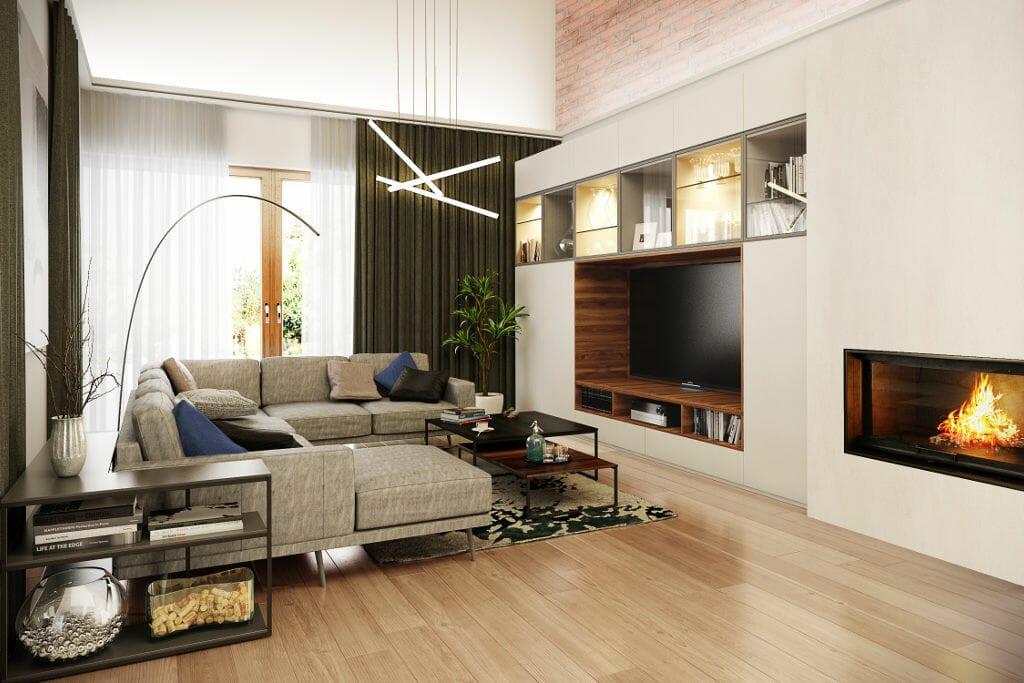 Wizualizacja salonu, viva design, projektowanie wnętrz, Rzeszów, warszawa, kraków,