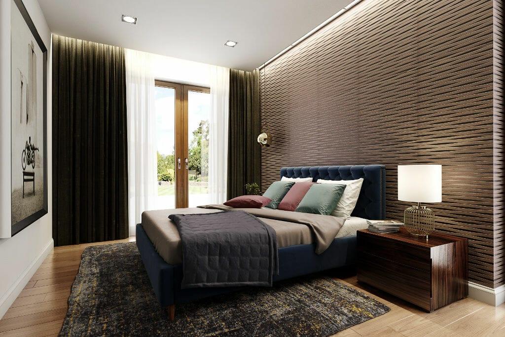 Wizualizacja sypialni, viva design, projektowanie wnętrz, Rzeszów, warszawa, kraków,