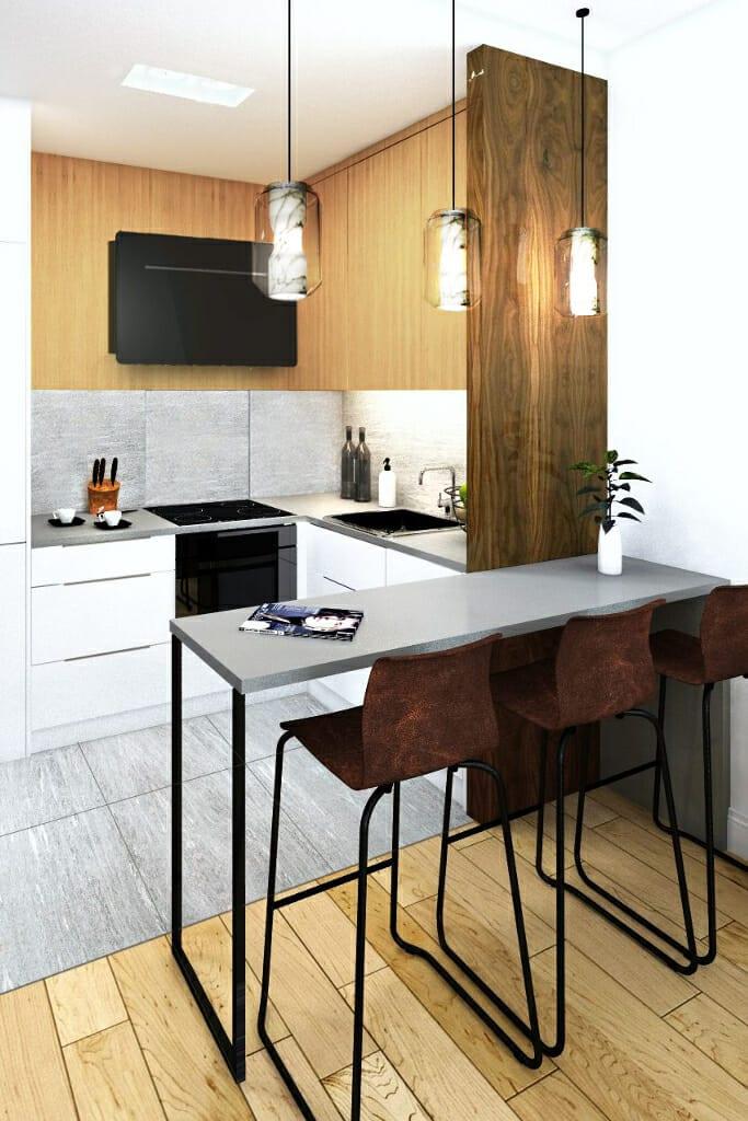 Apartament za parkiem Jarosław, wizualizacja kuchni, Rzeszów, architektura wnętrz, Warszawa, interior design, projektant wnetrz, viva design, projektant wnętrz, projektowanie wnętrz, architekt wnetrz, Rzeszow