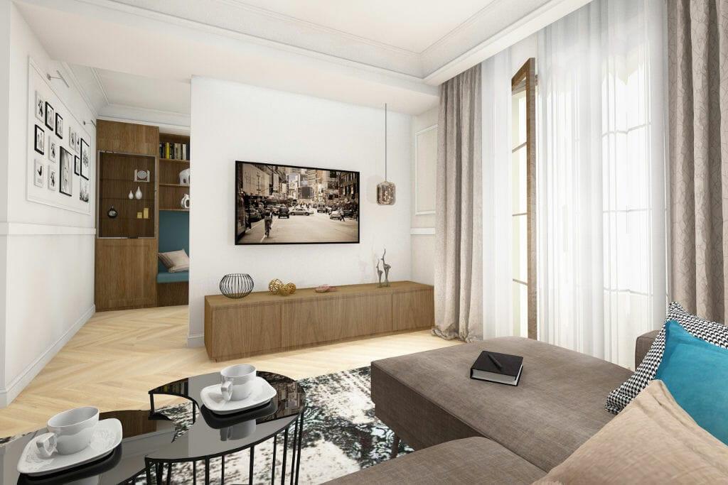 Eklektyczny, salon, Sędziszów, Rzeszow, interior design, Kraków, architekt wnetrz, projektowanie wnętrz