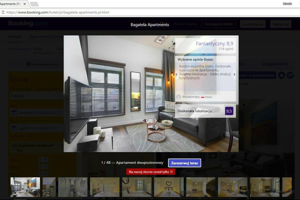 Apartament Viva Design projektowany z nadzorem pod klucz z oceną 8,9 na Booking.com, viva design, Kraków, architektura wnętrz, projektant wnętrz, Warszawa, interior design