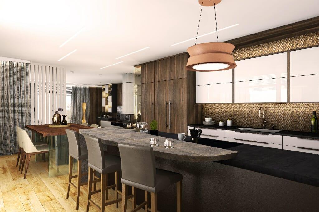 Jadalnia, dining room, wizualizacja, Norwegia, norway, visualization, Viva design, projektant, wnętrz, architekt, rzeszów, kraków, Warszawa, gdańsk