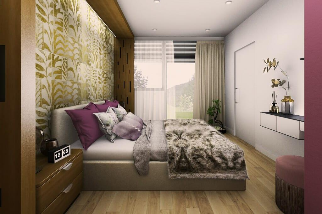 sypialnia, główna, właścicieli, main bedroom, wizualizacja, Norwegia, norway, visualization, Viva design, projektant, wnętrz, architekt, rzeszów, kraków, Warszawa, gdańsk