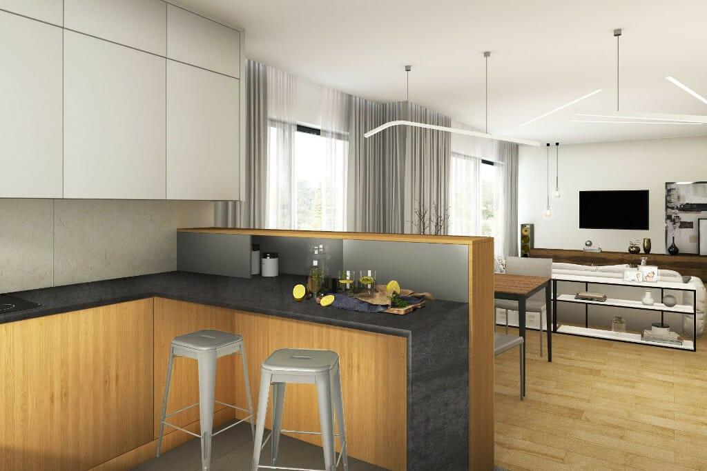 wizualizacja kuchni, pod klucz, Rzeszów, projektowanie wnętrz, architektura wnętrz