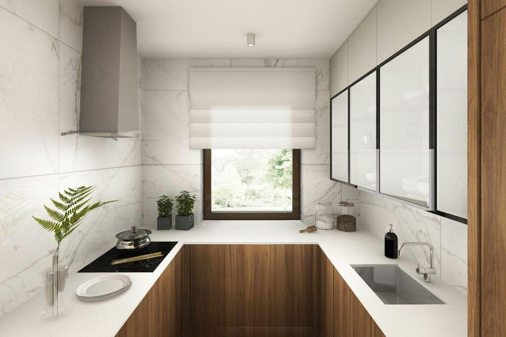Wizualizacja kuchni, projektowanie wnetrz, projektowanie wnętrz, Krakow, viva design, architektura wnętrz