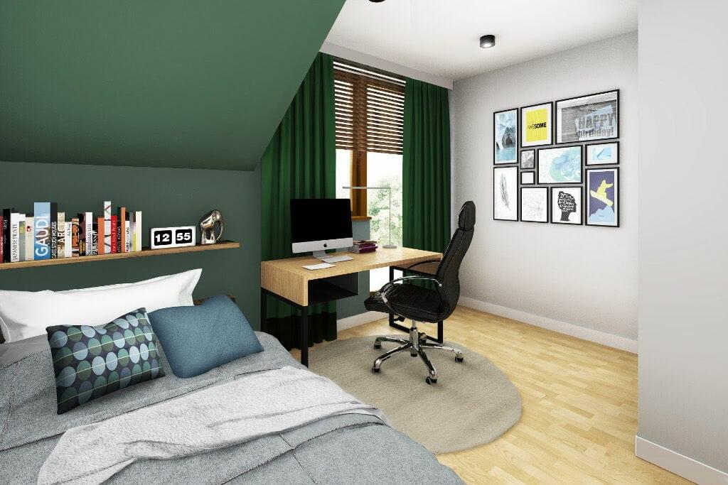 Wizualizacja pokoju syna, Rzeszów, architekt wnętrz, projektant wnetrz, interior design