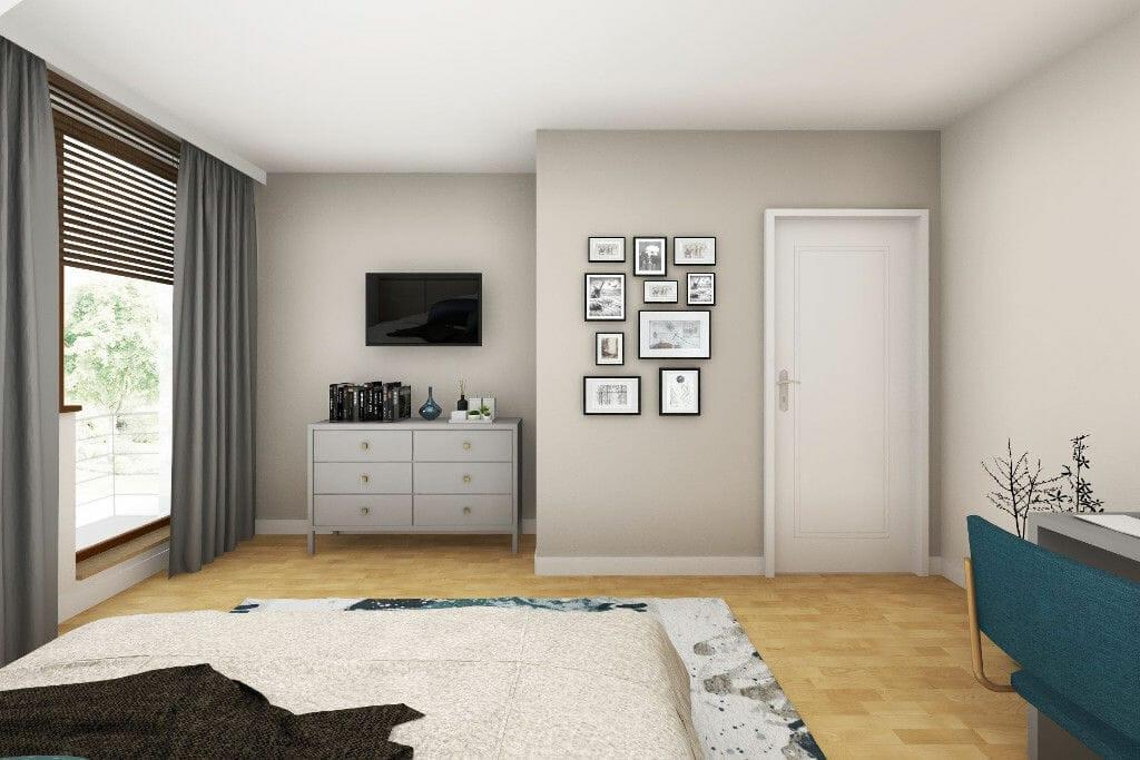 Wizualizacja sypialni męża, architektura wnętrz, viva design, projekty wnetrz, projektowanie wnętrz