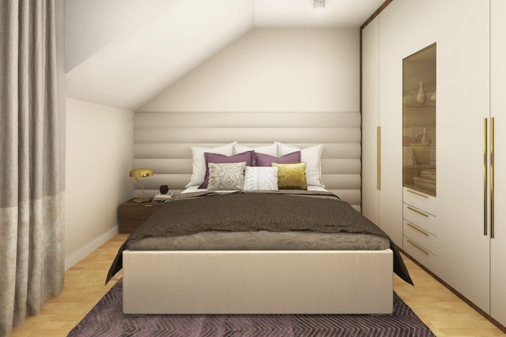 Wizualizacja sypialni żony, Rzeszów, projektowanie wnetrz, architektura wnetrz, viva design, Kraków