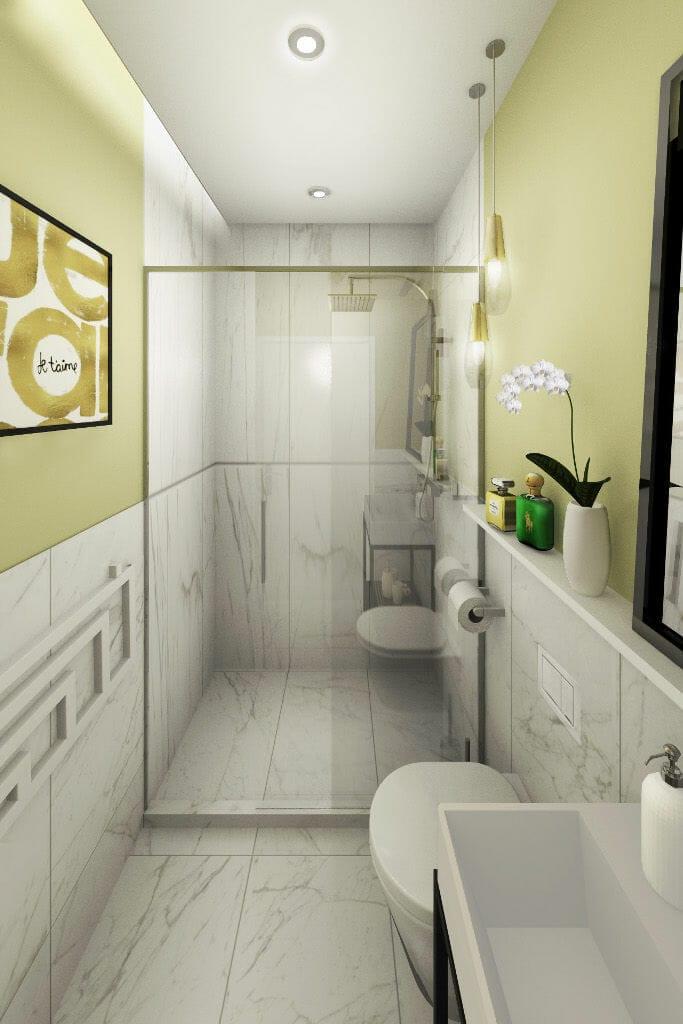Wizualizacja toalety na parterze, Krakow,  projektant wnętrz, projektant wnetrz, Warszawa, Rzeszow