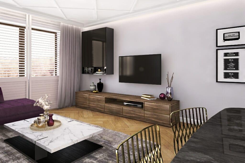 Wizualizacja sypialni, viva design, projektant wnetrz, architekt wnętrz, Warszawa, pod klucz