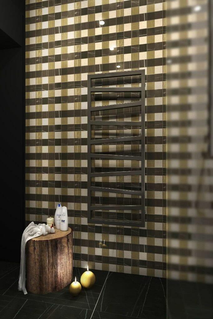 Wizualizacja łazienki, widok na grzejnik, pod klucz, projektowanie wnętrz, architekt wnetrz