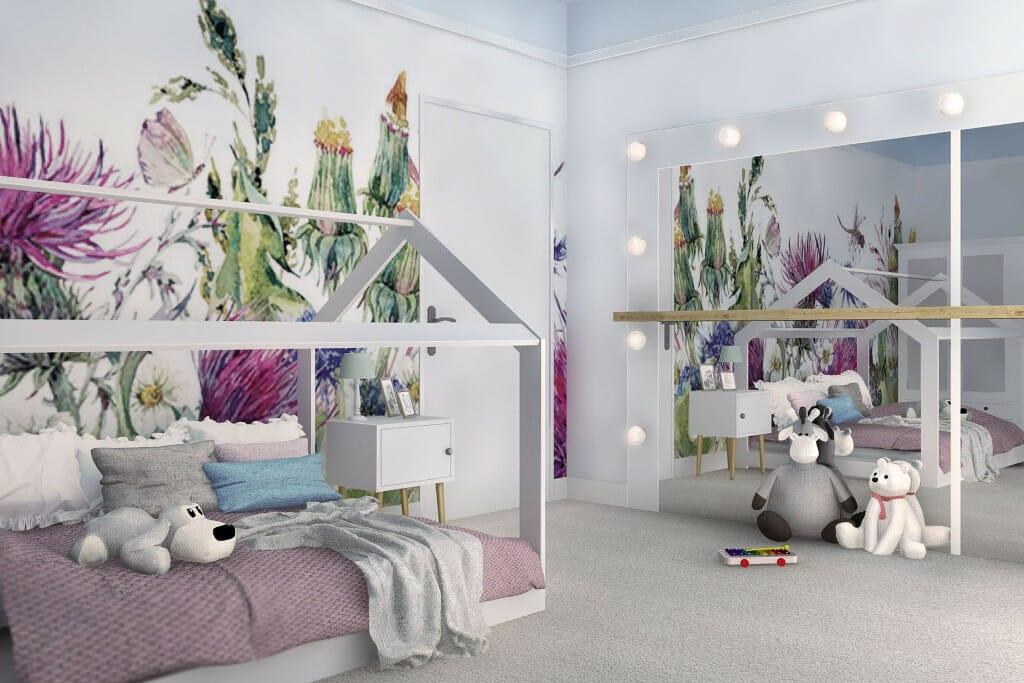 projektant wnętrz pod klucz, wizualizacja pokoju dziewczynki w domu jednorodzinnym o powierzchni 300 m2 pod Rzeszowem, Warszawa, Krakow, projekty wnętrz, viva design, interior design, Rzeszow