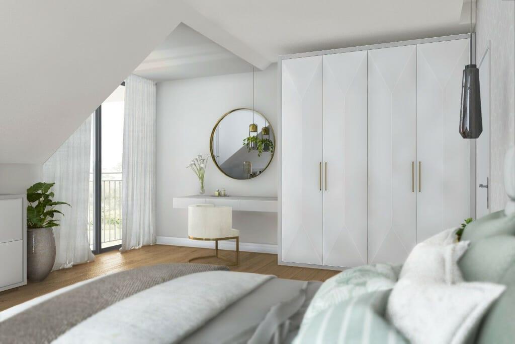 viva design, projektant wnętrz, wizualizacja sypialni w dużej rezydencji pod Rzeszowem, Krakow, projektant wnętrz, Kraków, interior design, projektowanie wnętrz, projekty wnetrz