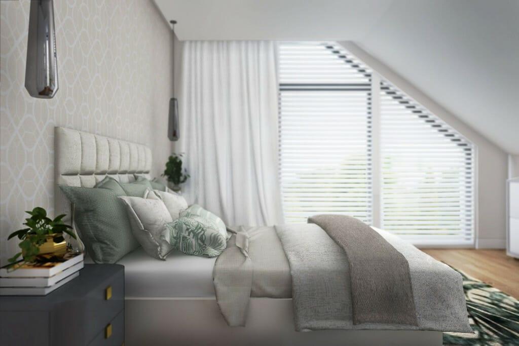interior design Rzeszów, wizualizacja sypialni w domu jednorodzinnym pod Rzeszowem, architektura wnetrz, architekt wnetrz, projektowanie wnetrz, Kraków, Rzeszow, architektura wnętrz
