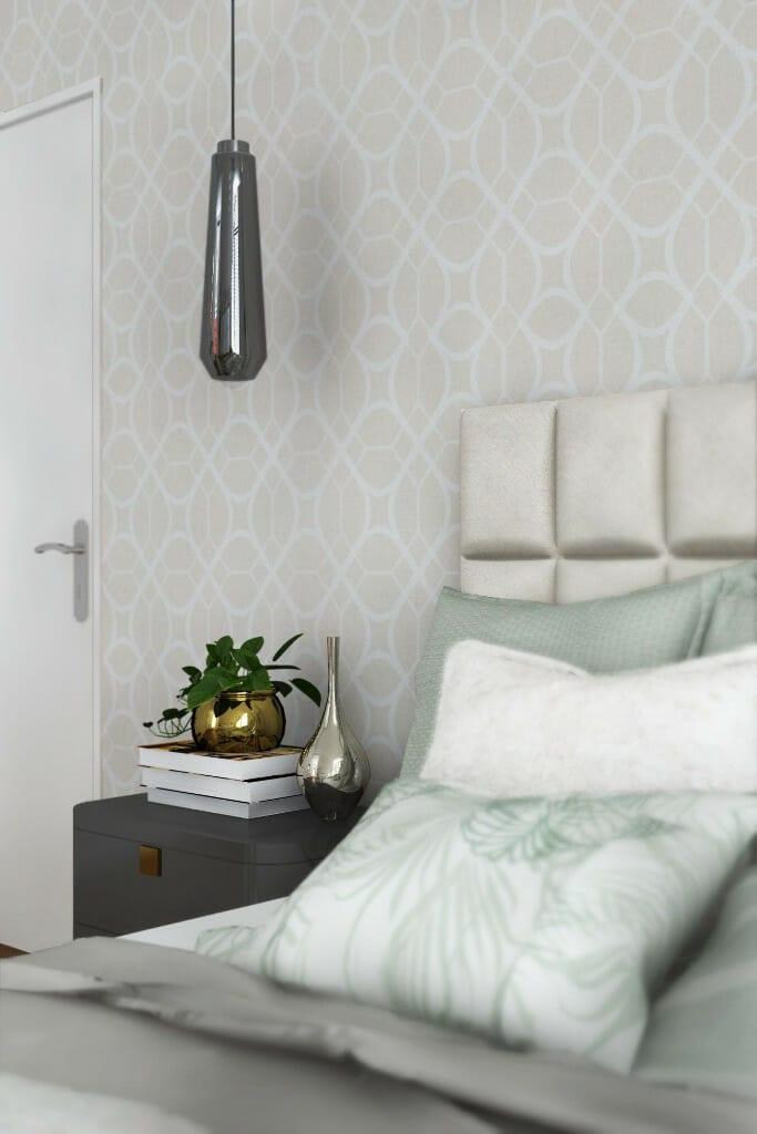 projekty wnętrz viva design, wizualizacja sypialni w domu 300 m2 pod Rzeszowem, Kraków, interior design, projekty wnętrz, projektant wnętrz, Rzeszów, projektant wnetrz