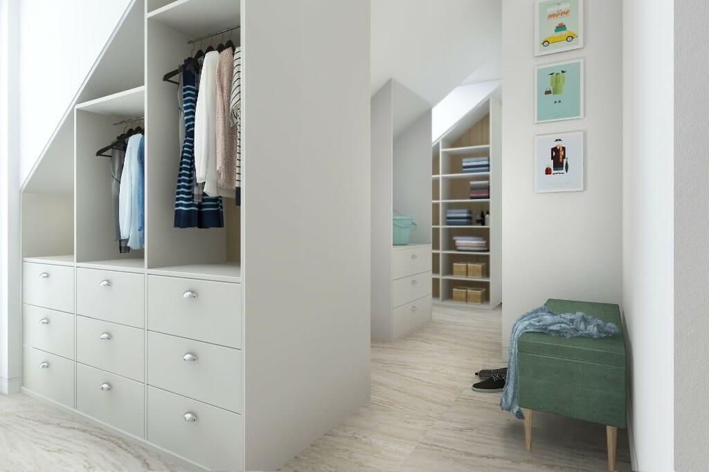 Architektura wnętrz, wizualizacja pralni z garderobą, Rzeszow, pod klucz, Warszawa, projektant wnetrz, projekty wnętrz, architekt wnetrz