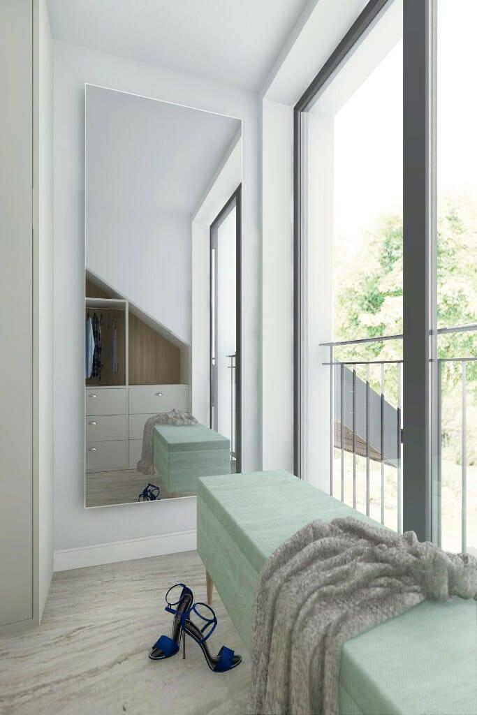 Aranżacja wnętrz, wizualizacja pralni z garderobą, projektowanie wnętrz, Kraków, architektura wnętrz, viva design, projekty wnetrz, Rzeszow