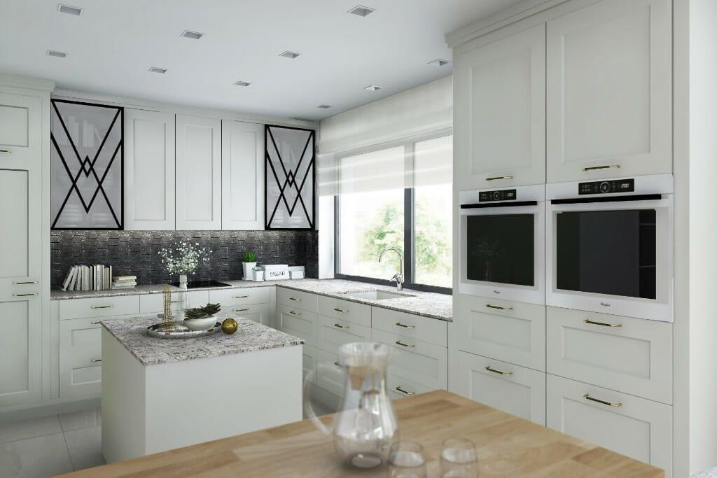 projektowanie wnętrz pod klucz, wizualizacja kuchni w domu pod Rzeszowiem,