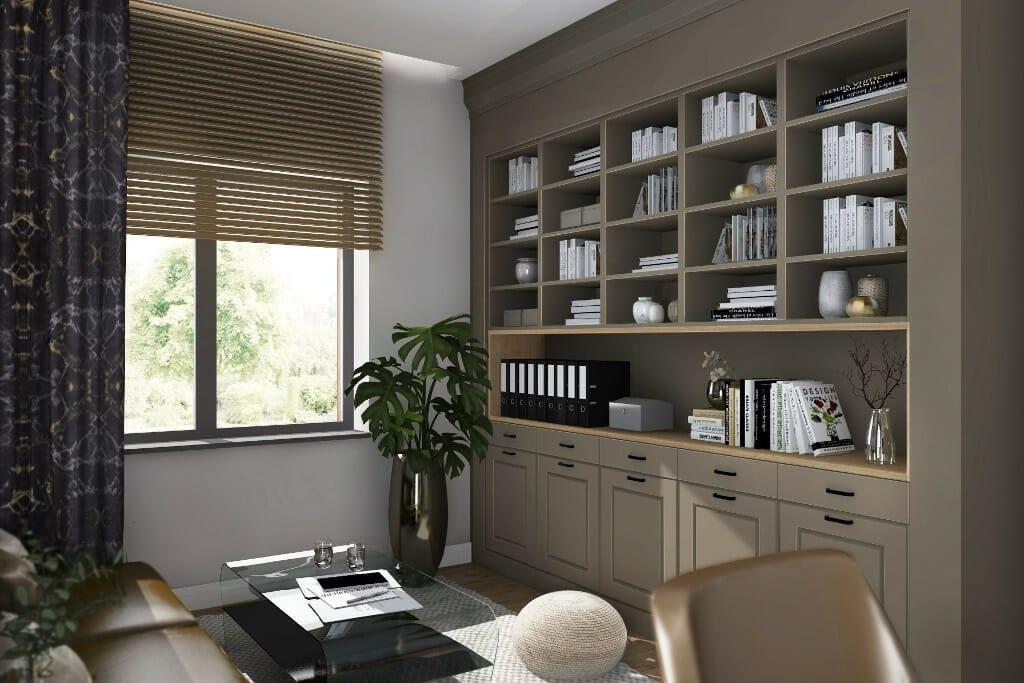 projektowanie wnętrz, gabinet Pana domu, rezydencja pod Rzeszowem, projekty wnetrz, projektant wnetrz, Krakow, architekt wnetrz, architektura wnętrz, architekt wnętrz