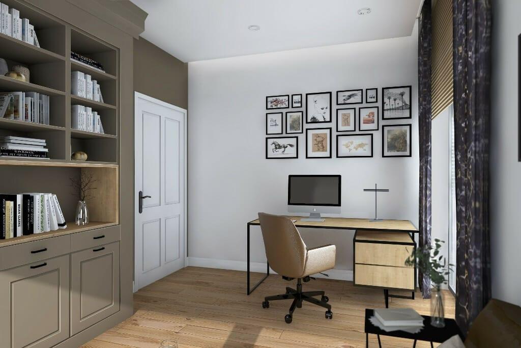 viva design projektant wnętrz, wizualizacja gabinetu męża, rezydencja nowoczesna pod Rzeszowem, projekty wnetrz, Warszawa, architektura wnetrz, projektant wnetrz, Krakow, projektowanie wnetrz