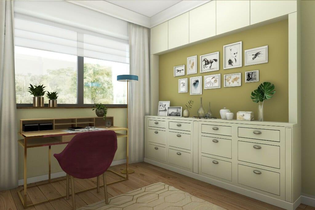 architekt wnętrz viva design, wizualizacja wnętrz gabinetu Pani domu, architektura wnetrz, architektura wnętrz, Rzeszów, projekty wnętrz, Krakow, Rzeszow