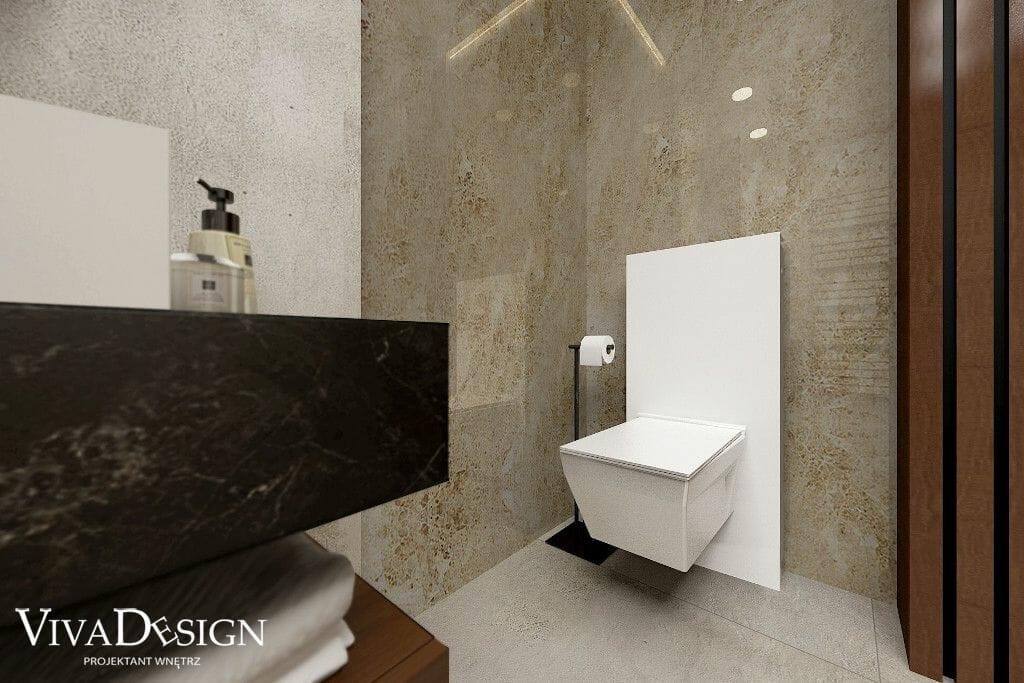 Wizualizacja łazienki, kamień naturalny, panele drewniane, geberit monolith, architektura wnetrz, pod klucz, Kraków, architekt wnetrz, architekt wnętrz, viva design